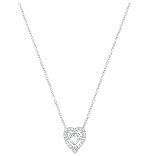 Swarovski 5272365, Sparkling Silver Heart Necklace Aprx Length 38cm RRP $149