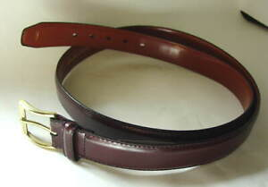 Brown-Leather-Dress-or-Casual-Belt-Mens-Size-50-NEW-NWT-0389
