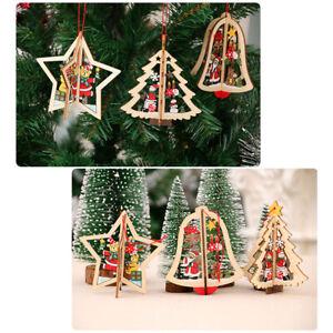 Fj-da-Parete-Decorazione-di-Natale-in-Legno-Ornamenti-3D-Ciondolo-Albero