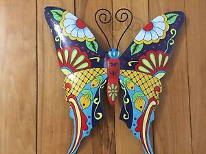 Details About Colorful Dragonfly Metal Outdoor Wall Decor Butterfly Floral Garden Indoor Art