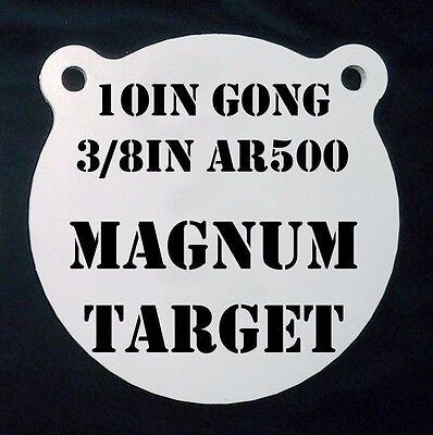 8,10/&12in 3//8 AR500 Hardened Metal Gongs-Steel Shooting Range NRA Pistol Targets