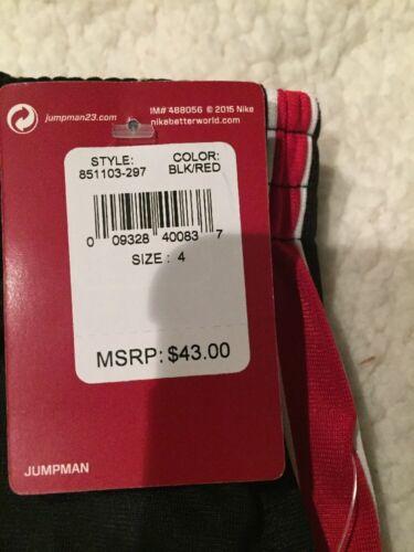 NWT$43 Nike Jordan Boy/'s Jogging Pants Black//Red Sizes 4 XS