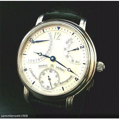 Maurice Lacroix  Masterpiece Kalender Retrograde MP7068 Luxus Herren Armbanduhr