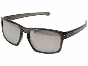 a68a240d50 Image is loading Oakley-Sliver-Sunglasses-with-Grey-Smoke-Frame-Chrome-