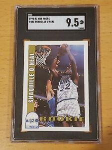 1992 NBA Hoops #442 Shaquille O'Neal SGC 9.5 Newly Graded RC Rookie