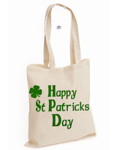 Shamrock COTTON TOTE FUNNY HAPPY Leprechaun St Patrick/'s DAY Irish ST.PATS,BAG