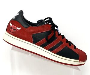 Details about Adidas Mens Size 9 NBA Series Chicago Bulls Superstar 1 Shell Top Sneakers