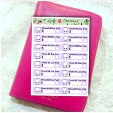 081 | Phone Mobile Bill Reminder Payment Due HOMEMADE Planner Stickers