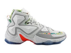 c1bcb2718e3 NIKE Lebron XIII Easter Basket Ball Shoes White Platinium Mango ...