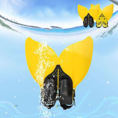 Girls Boys Teens Youth Kids Mermaid Tail Mono Fin Flippers Swimming Toy Footwear