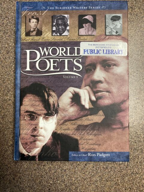 Scribners World Poets Volume 3 (ExLib) by Ron Padgett