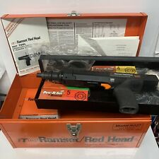 Ramset Redhead Rs27 Power Actuated Tool With Metal Tool Box Fasteners Strips