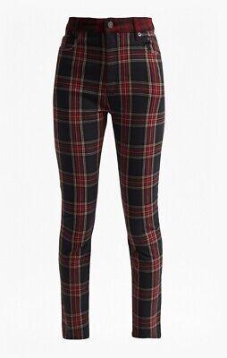 Womens  French Connection High waist,Tillie Tartan Denim Jeans Size 10 samples