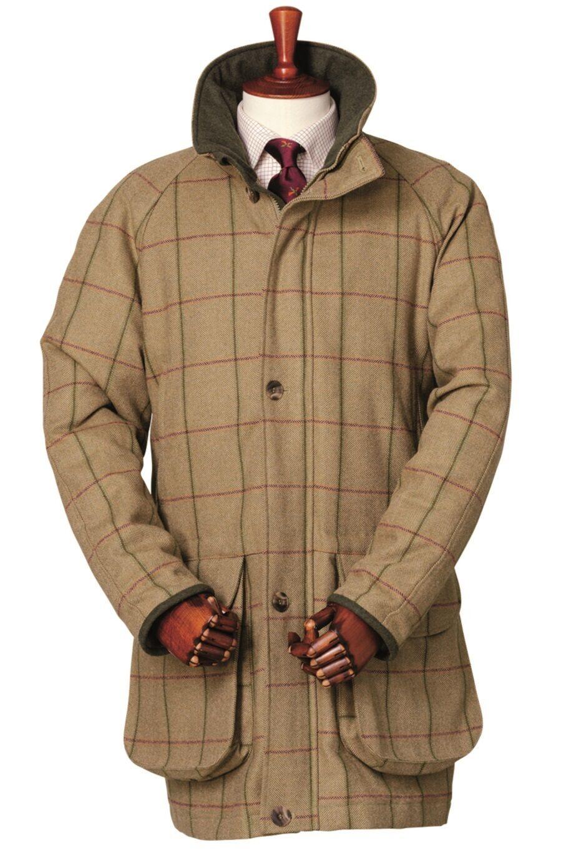 Abrigo para hombre Laksen Glennan Tweed de disparo-todos Los Tamaños-Nuevo