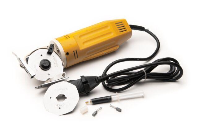 "Electric Rotary Fabric mini Cutter Shears 110V,2-3/4"" blade & self sharpener"