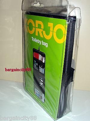 Korjo Blk Travel Hanging Toiletry Bag Foldable Cosmetic Makeup Kit Organiser New