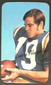 1970-Topps-Super-Card-13-Lance-Alworth-San-Diego-Chargers-Vintage-Football-NFL