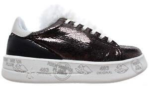 479562d01d738c Caricamento dell'immagine in corso PREMIATA-Scarpe -Donna-Sneakers-Belle-3430-Pelle-Bronzo-