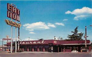 Details About Roadside Postcard Totem Pole Restaurant Diner Vancouver Wa Hwy 99 Unposted