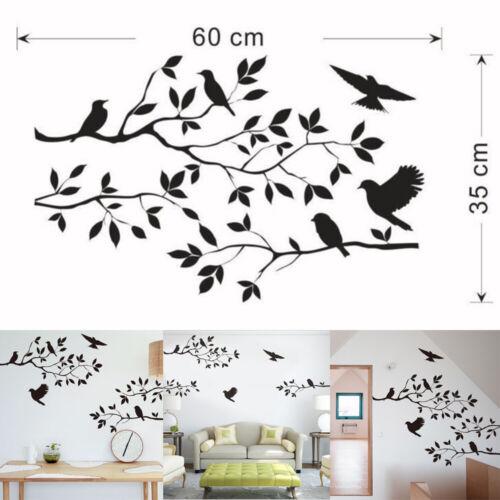 Birds Tree Branch Handcraft Wall Art Sticker Mural Home Room Decor Decal