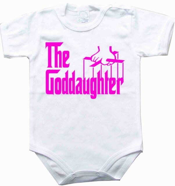 Baby bodysuit the goddaughter pink One Piece t-shirt tee the godfather