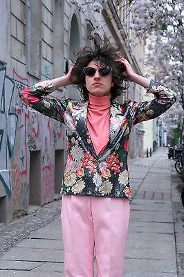 Colto Ungaro Parallêle Parigi Donna Giacca Srotolati Fiori 90er True Vintage Jacket Flowers-mostra Il Titolo Originale