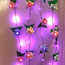 Origami paper rose light. 1st paper 4th flower wedding anniversary birthday gift