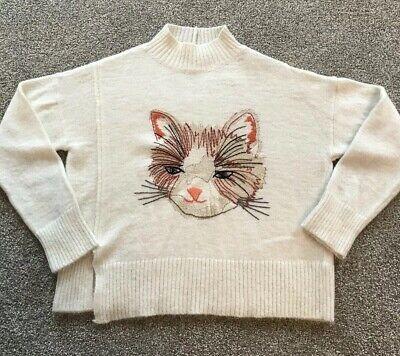 MOTH ANTHROPOLOGIE Miaou Turtleneck Sweater Size Small Petite
