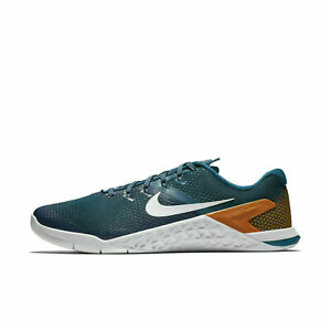 2a622fc47288c Details about Nike Metcon 4 Mens Size 11 Blue Orange White Cross Training  Shoes AH7453 400