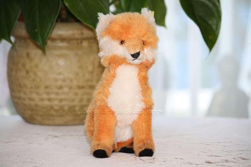 STEIFF Fuzzy Fox naturales 3622,00 Botón Y Etiquetas