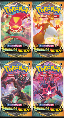 SWSH Darkness Ablaze Booster Packs x4 Pokemon - In Stock 1 of each art