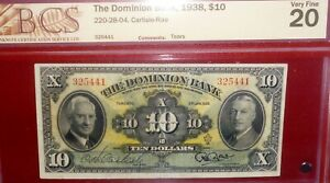 1938-10-THE-DOMINION-BANK-CANADA-CHARTERED-BANKNOTE