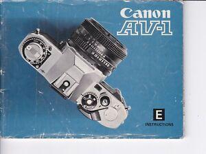 GENUINE-ORIGINAL-CANON-INSTRUCTION-MANUAL-FOR-AV-1-FILM-CAMERA