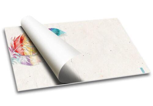 "Papier Schreibtischunterlage /""Federschmuck/"" DIN A2 40 BlattMädchen Feder"