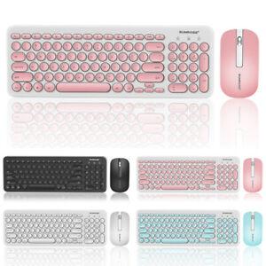 Ultra-Thin-2-4G-Wireless-Keyboard-amp-USB-Round-Retro-Mute-Mouse-Mice-Combo-Set