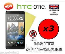 3x HQ MATTE ANTI GLARE SCREEN PROTECTOR COVER LCD GUARD FILM FOR NEW HTC ONE M7