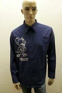 Camicia-ICEBERG-Uomo-Shirt-Vintage-Tom-e-Jerry-Chemise-Camisa-Blusa-Taglia-XL