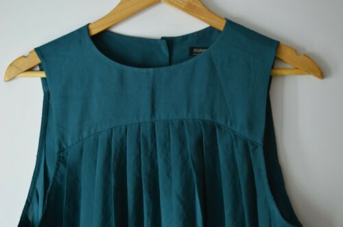 Allsaints Teal Top Pleated Allsaints Uk6 Pleated Teal 45wBxRR