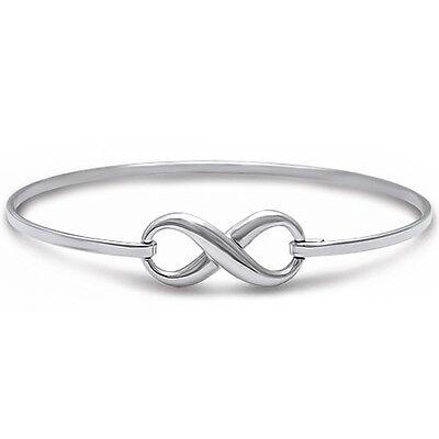 "BEST SELLER LOVE INFINITY KNOT  .925 Sterling Silver Bracelet 7.5"""