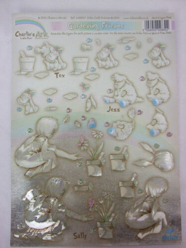 Charlies Ark Dufex Die Cut Decoupage Gardening Friends