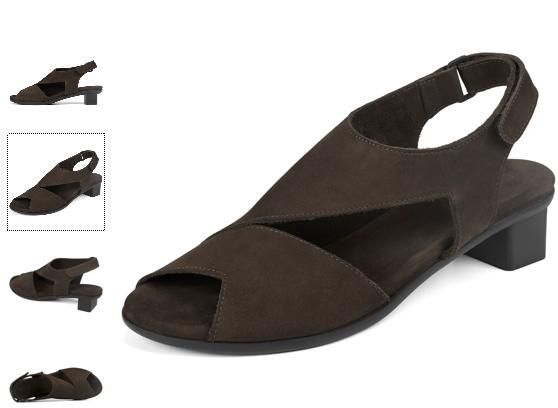 Arche Obibbi Obibbi Obibbi Black Nubuck Comfort Wedge Sandal Women's sizes 36-41 5-10 NEW c4b7fb
