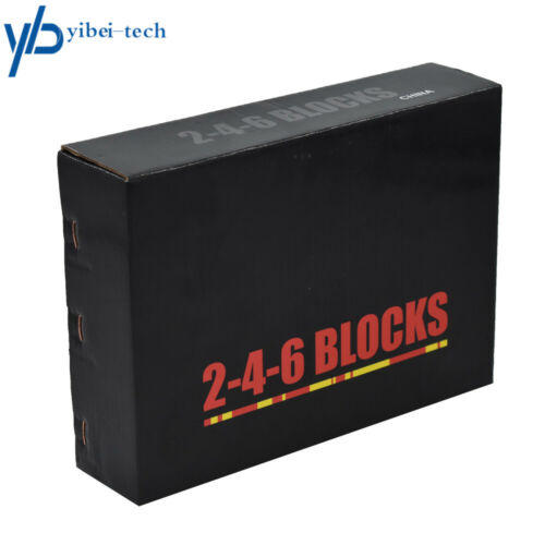 "2-4-6 Blocks 23 Holes Matched Pair Ultra Precision .0006/"" Machinist 246 Jig"