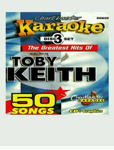 Details about CHARTBUSTER KARAOKE CDG TOBY KEITH (5060R) 3 DISC BOX SET 50  TRACKS NEW