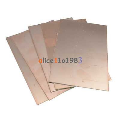 5PCS 10x15cm 10cmx15cm Single PCB Copper Clad Laminate Board FR4