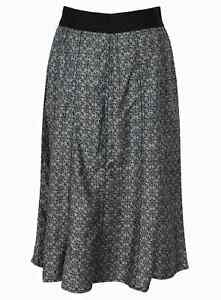 "New Ex-M/&S Ladies Grey 100/% Linen A Line Skirt Sz 18 Lgth 22/"" £22"