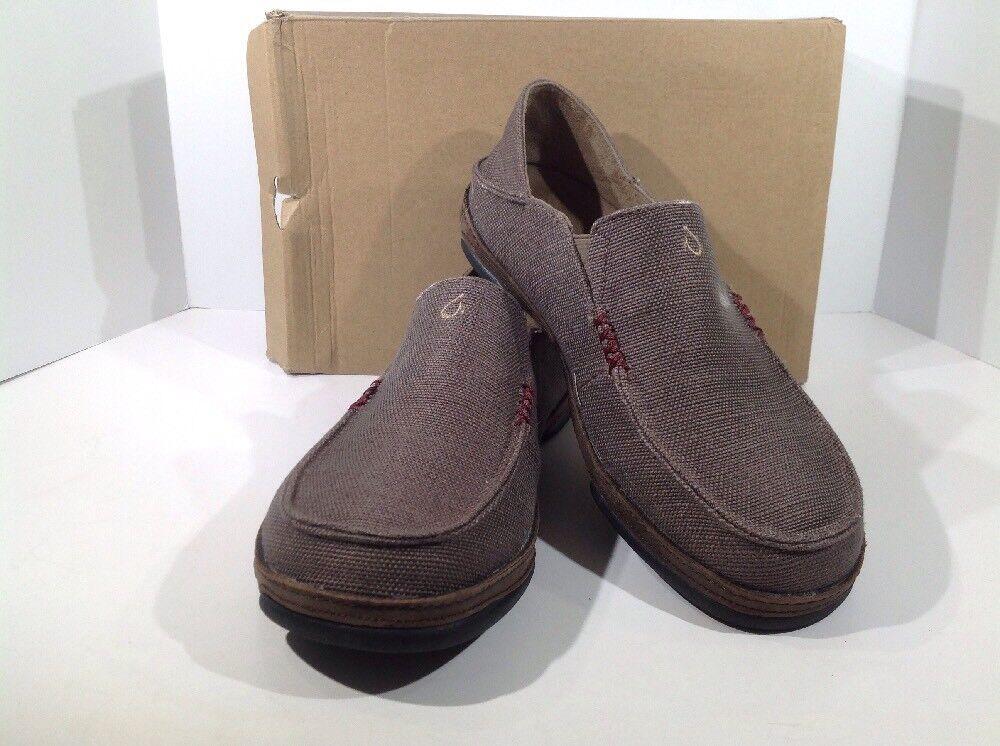 Olukai Moloa Kapa Men's Size 10 Mustang/Dk Wood Slip On Loafers Shoes X14-1717
