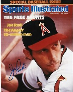JOE RUDI  CALIFORNIA ANGELS  SPORTS ILLUSTRATED COVER SIGNED 8x10
