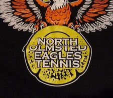 TENNIS TEAM High School EAGLES North Olmsted Ohio T-Shirt FREE Shipping sz Large