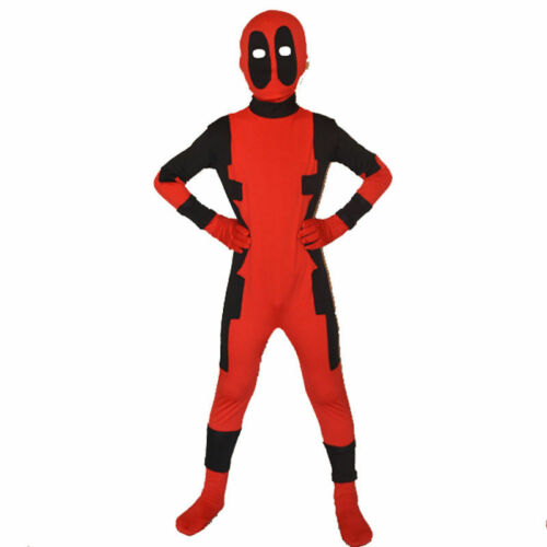 Kids Boys Deadpool Costume X-man Cosplay Superhero Outfit Boys Fancy Dress Gift
