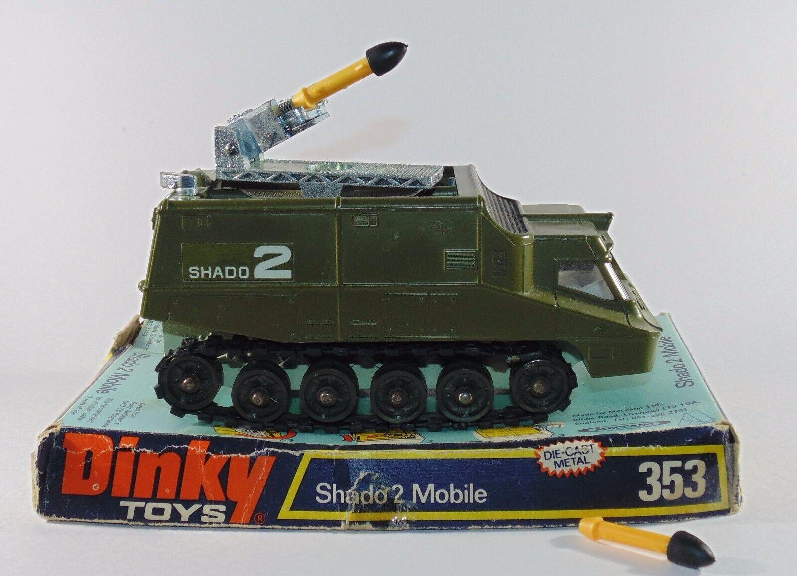 DINKY TOYS 353 SHADO 2 mobile MISSILE Lanciarazzi con scatola